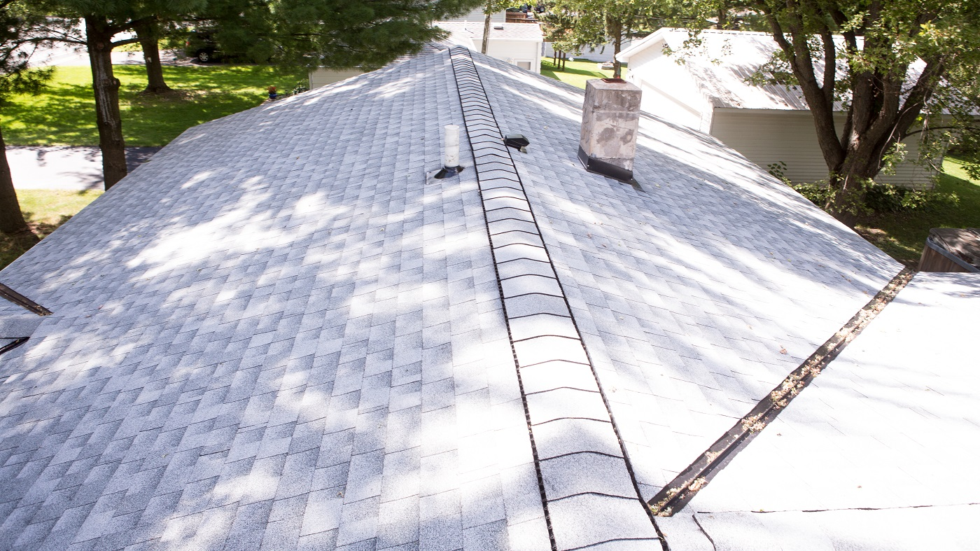 aerial view of roof
