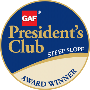 GAF Steep Slope President's Club Award
