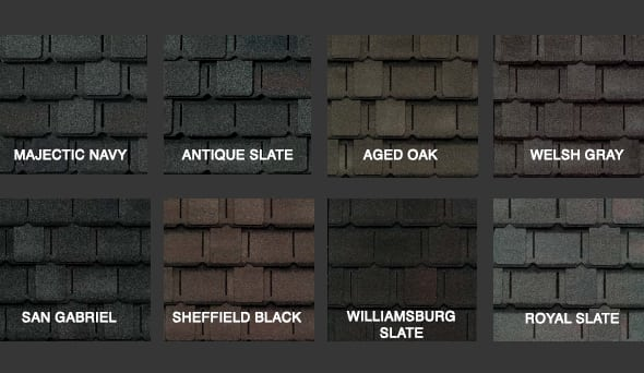 Camelot Shingle Colors