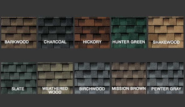 Reg HD Shingle Colors