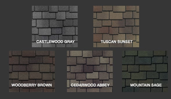 Woodland Shingle Colors