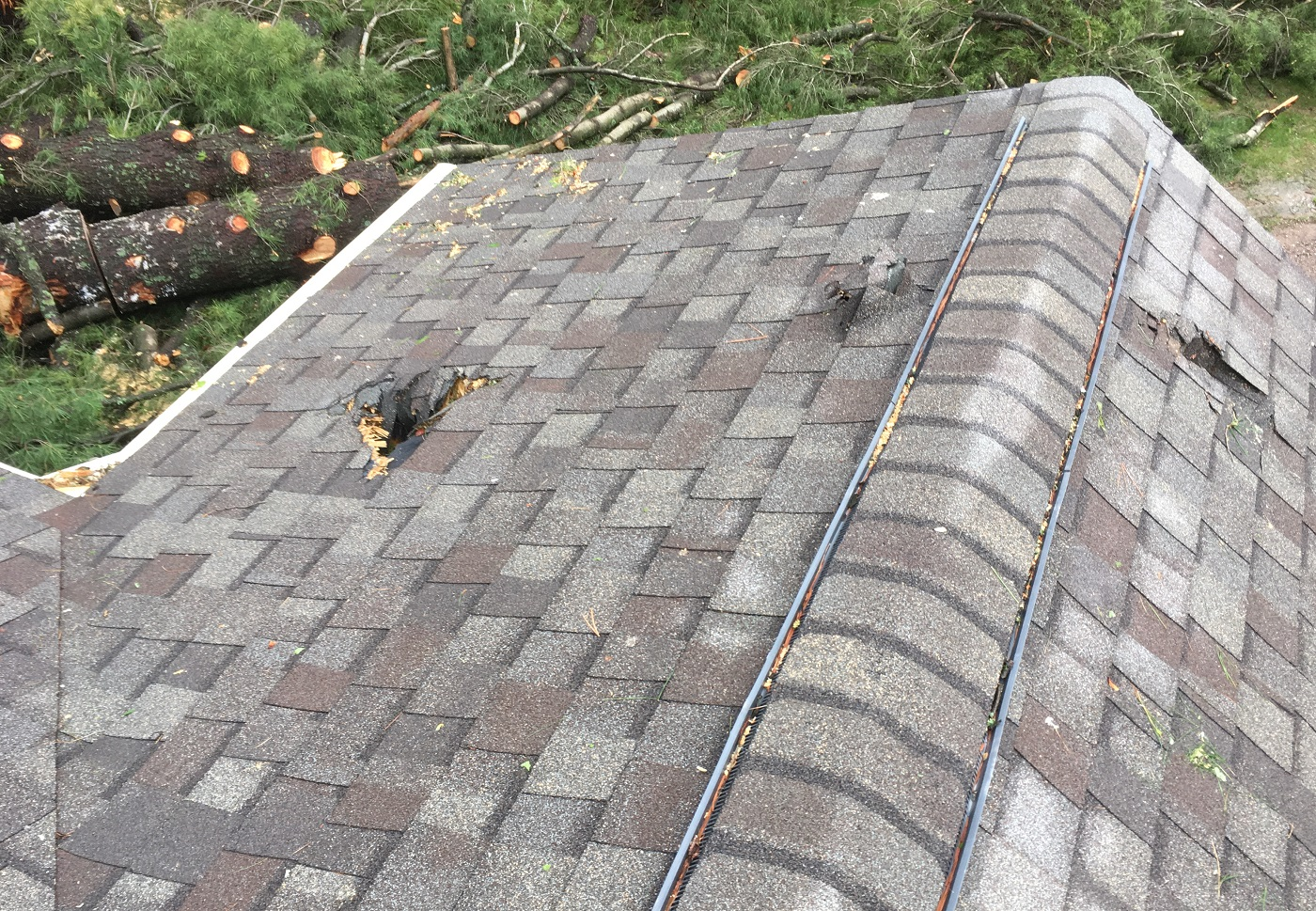 storm damage roof