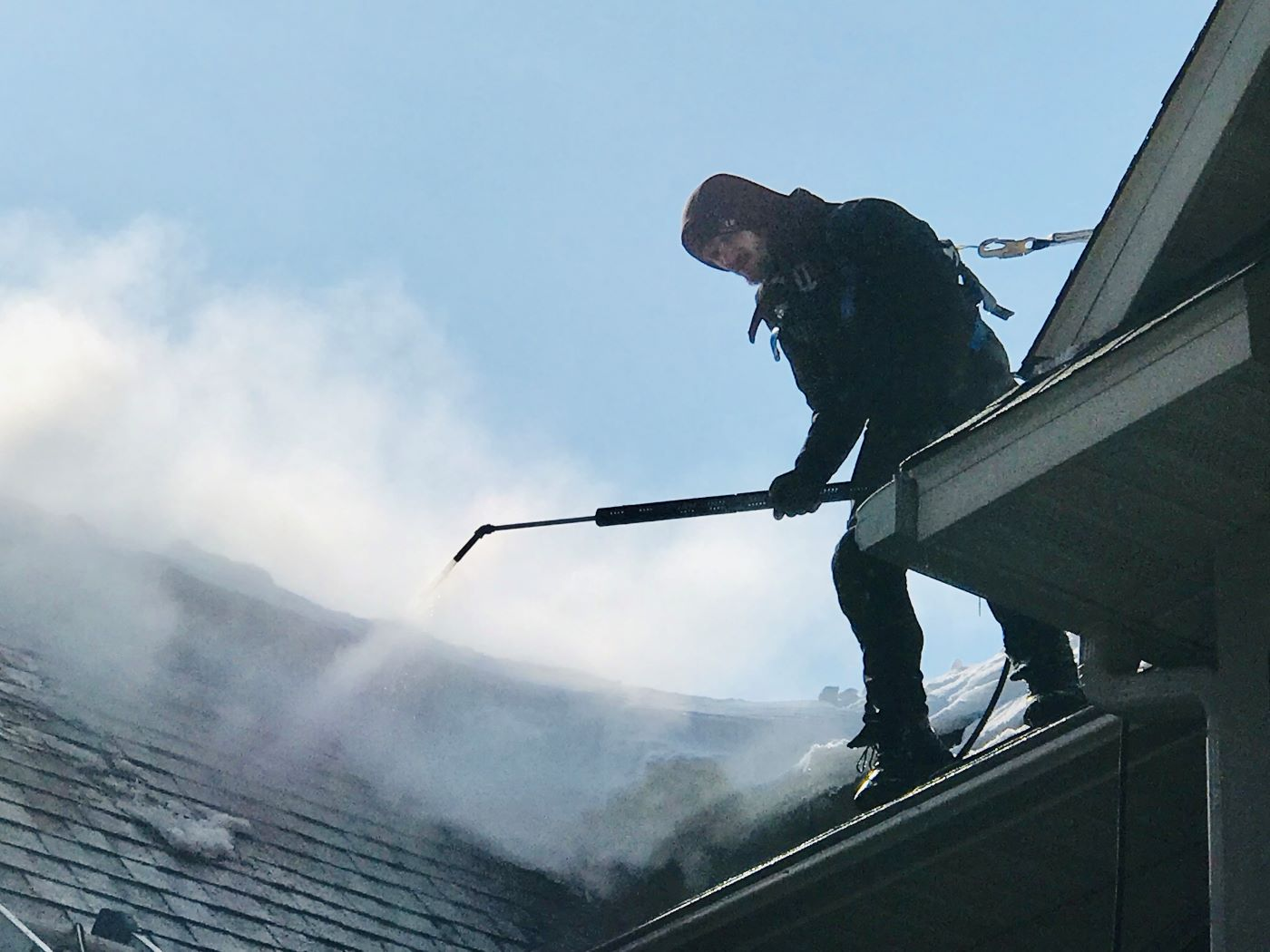 roof steaming